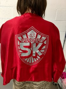 Heat press girls on the run red with silver